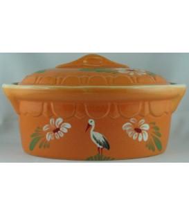 Terrine ovale individuelle - Mandarine cigogne