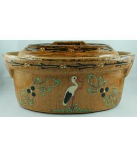 Terrine ovale pour 4 à 6 personnes - Faux bois cigogne