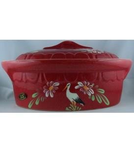 Terrine ovale pour 4 à 6 personnes - Rouge cigogne