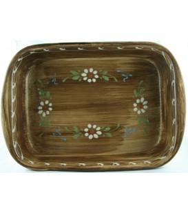Plat à lasagne 35 cm - Faux bois fleur