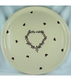 Plat à tarte - Nature coeur aubergine