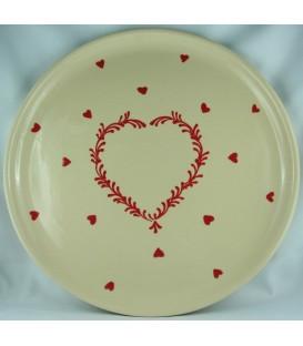 Plat à tarte - Nature coeur rouge