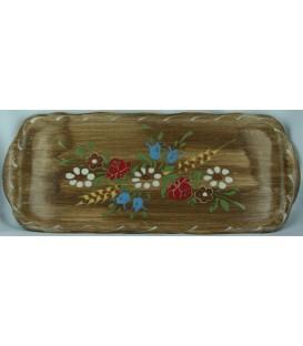 Plat à cake - Faux bois fleur
