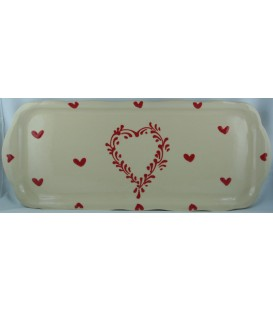 Plat à cake - Nature coeur rouge