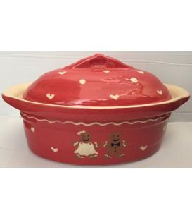 Terrine ovale pour 2 à 3 personnes - Manala rouge