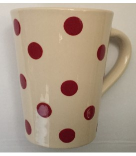 Mug nature pois rouge