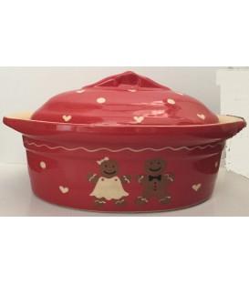 Terrine ovale pour 3 à 4 personnes - Manala rouge