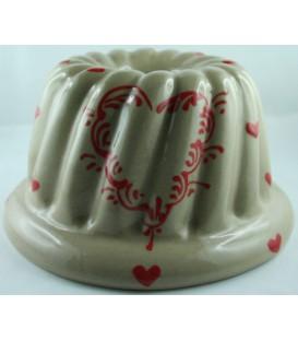 Kougelhopf pour 10 à 12 personnes - Taupe coeur rouge