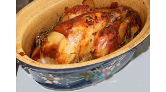 Poulet rôti en terrine