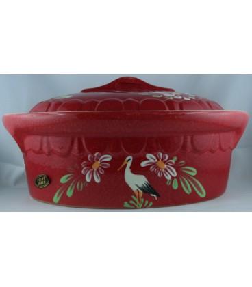 Terrine ovale pour 10 à 12 personnes - Rouge cigogne