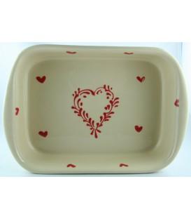 Plat à lasagne 35 cm - Nature coeur rouge