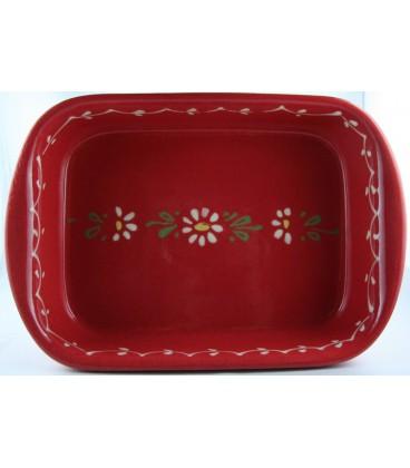 Plat à lasagne 39 cm - Rouge fleur