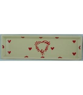 Lèche-cuillère - Nature coeur rouge