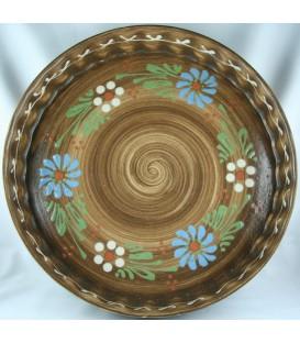 Tourtière 30 cm - Faux bois fleur