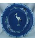 Saladier bas - Bleu jean cigogne