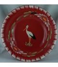Saladier bas - Rouge cigogne
