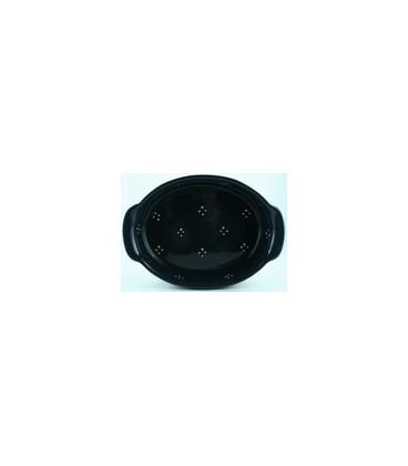 Plat ovale 39 cm - Bleu 4 points